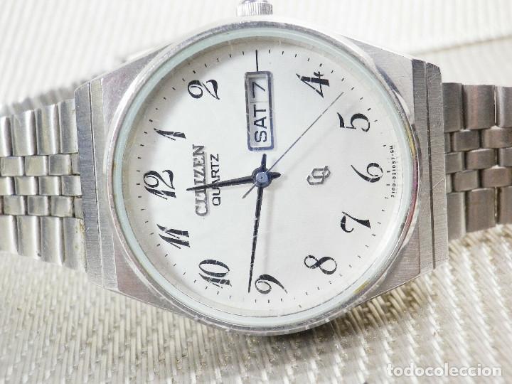 Relojes de pie: ELEGANTE CITIZEN DE CABALLERO FINALES AÑOS 80 ACERO INOX FUNCIONA LOTE WATCHES - Foto 5 - 173632267