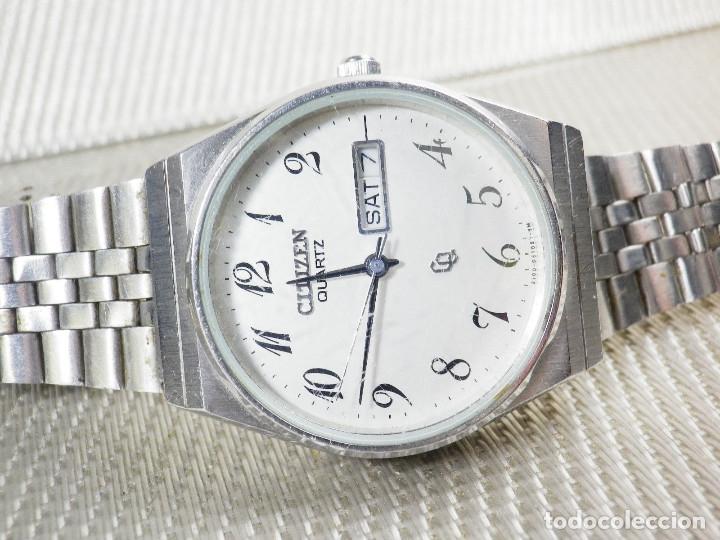 Relojes de pie: ELEGANTE CITIZEN DE CABALLERO FINALES AÑOS 80 ACERO INOX FUNCIONA LOTE WATCHES - Foto 6 - 173632267