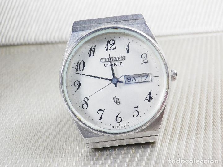 Relojes de pie: ELEGANTE CITIZEN DE CABALLERO FINALES AÑOS 80 ACERO INOX FUNCIONA LOTE WATCHES - Foto 7 - 173632267