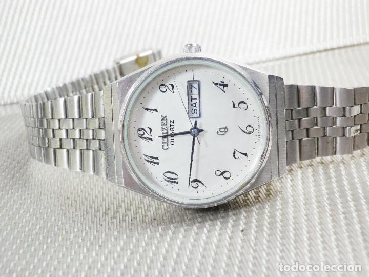Relojes de pie: ELEGANTE CITIZEN DE CABALLERO FINALES AÑOS 80 ACERO INOX FUNCIONA LOTE WATCHES - Foto 8 - 173632267