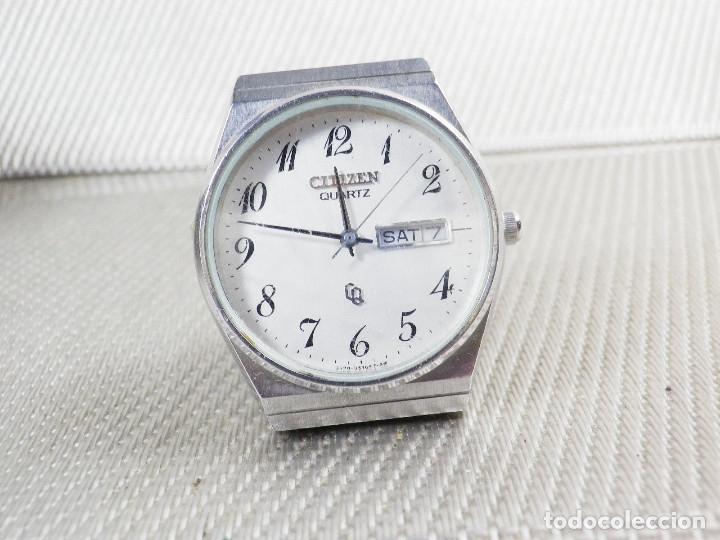 Relojes de pie: ELEGANTE CITIZEN DE CABALLERO FINALES AÑOS 80 ACERO INOX FUNCIONA LOTE WATCHES - Foto 10 - 173632267