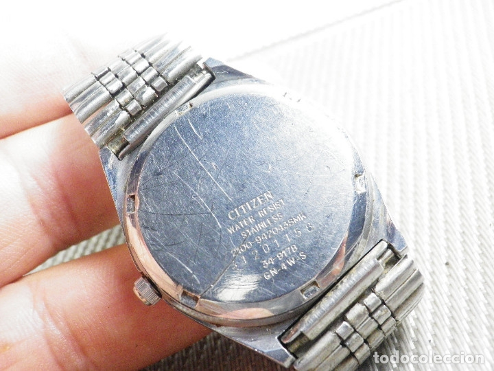 Relojes de pie: ELEGANTE CITIZEN DE CABALLERO FINALES AÑOS 80 ACERO INOX FUNCIONA LOTE WATCHES - Foto 11 - 173632267