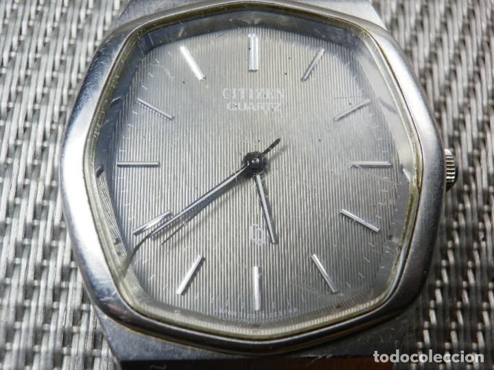 Relojes de pie: GRAN CITIZEN DE ALTA GAMA AÑOS 80 GRAN MAQUINA ACERO INOX FUNCIONA LOTE WATCHES - Foto 2 - 173676877