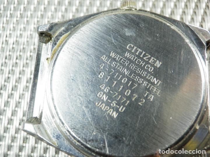 Relojes de pie: GRAN CITIZEN DE ALTA GAMA AÑOS 80 GRAN MAQUINA ACERO INOX FUNCIONA LOTE WATCHES - Foto 3 - 173676877