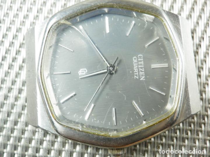 Relojes de pie: GRAN CITIZEN DE ALTA GAMA AÑOS 80 GRAN MAQUINA ACERO INOX FUNCIONA LOTE WATCHES - Foto 4 - 173676877