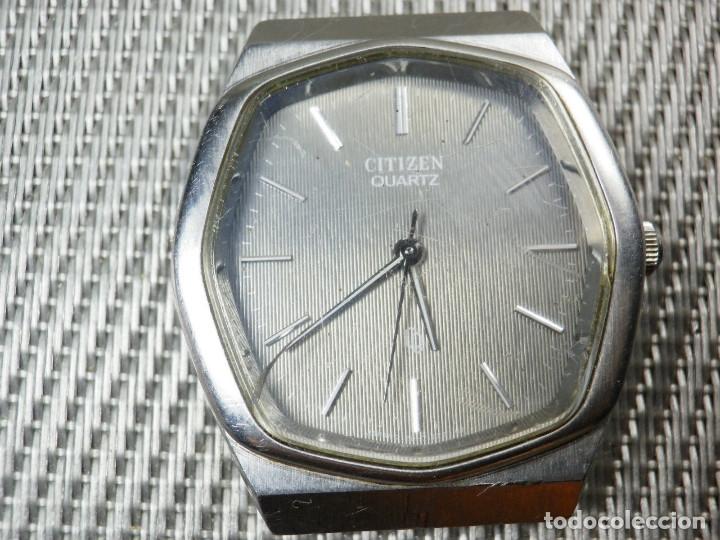 Relojes de pie: GRAN CITIZEN DE ALTA GAMA AÑOS 80 GRAN MAQUINA ACERO INOX FUNCIONA LOTE WATCHES - Foto 5 - 173676877