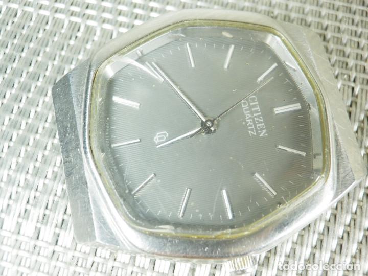 Relojes de pie: GRAN CITIZEN DE ALTA GAMA AÑOS 80 GRAN MAQUINA ACERO INOX FUNCIONA LOTE WATCHES - Foto 7 - 173676877