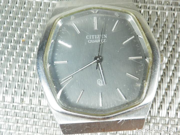 Relojes de pie: GRAN CITIZEN DE ALTA GAMA AÑOS 80 GRAN MAQUINA ACERO INOX FUNCIONA LOTE WATCHES - Foto 8 - 173676877
