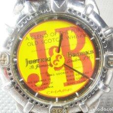 Relojes de pie: ANTIGUO RELOJ DE COLECCION WHISKIE JB DEPORTIVO FUNCIONA PERFECTO LOTE WATCHES. Lote 173678830