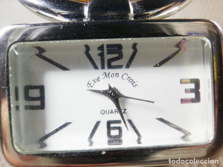 PRECIOSO EVE MON CROIS DE DAMA AÑOS 90 ANTIGUO STOK FUNCIONA LOTE WATCHES MONTRE (Relojes - Pie Carga Manual)