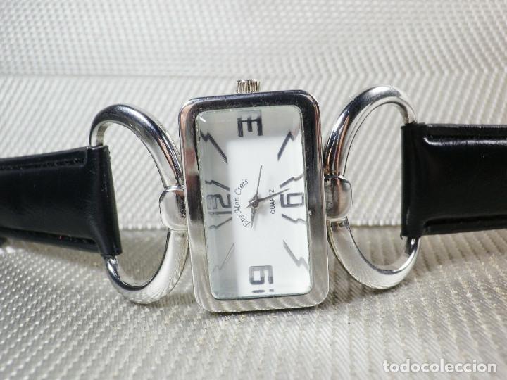 Relojes de pie: PRECIOSO EVE MON CROIS DE DAMA AÑOS 90 ANTIGUO STOK FUNCIONA LOTE WATCHES MONTRE - Foto 7 - 173679308