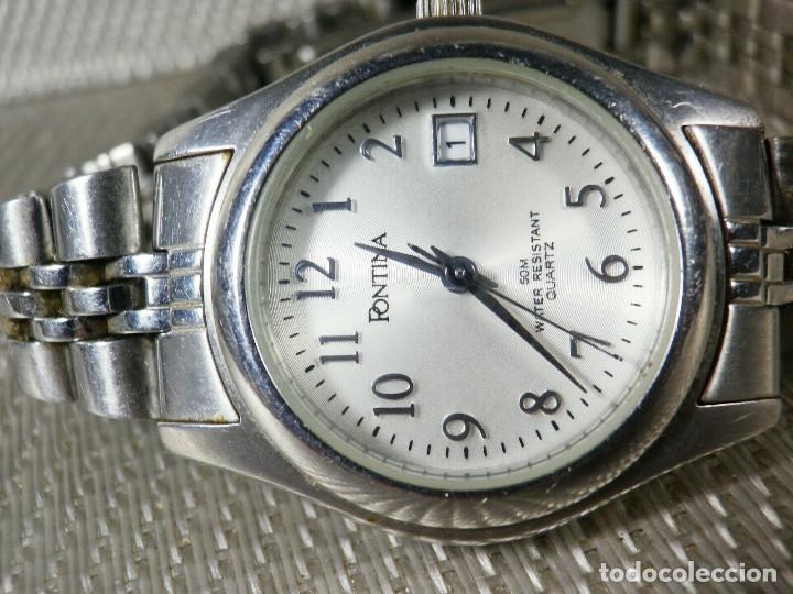 GRAN OCASION ORIGINAL PONTIMA ACERO INOX SIN USO SUMERGIBLE 30M LOTE WATCHES (Relojes - Pie Carga Manual)