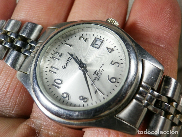 Relojes de pie: GRAN OCASION ORIGINAL PONTIMA ACERO INOX SIN USO SUMERGIBLE 30M LOTE WATCHES - Foto 2 - 173810684