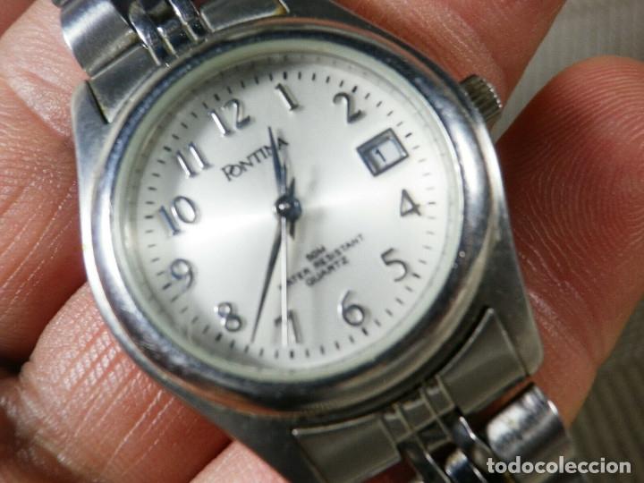 Relojes de pie: GRAN OCASION ORIGINAL PONTIMA ACERO INOX SIN USO SUMERGIBLE 30M LOTE WATCHES - Foto 4 - 173810684