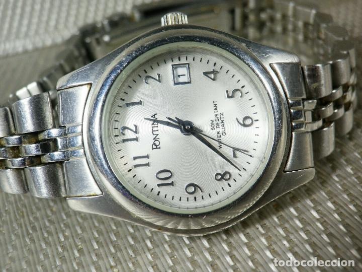 Relojes de pie: GRAN OCASION ORIGINAL PONTIMA ACERO INOX SIN USO SUMERGIBLE 30M LOTE WATCHES - Foto 5 - 173810684