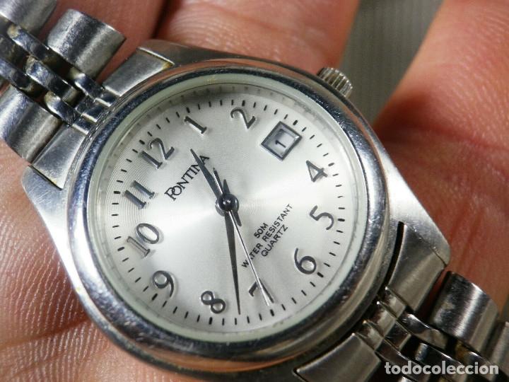 Relojes de pie: GRAN OCASION ORIGINAL PONTIMA ACERO INOX SIN USO SUMERGIBLE 30M LOTE WATCHES - Foto 6 - 173810684