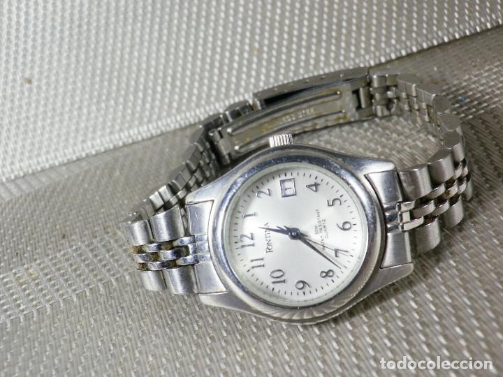 Relojes de pie: GRAN OCASION ORIGINAL PONTIMA ACERO INOX SIN USO SUMERGIBLE 30M LOTE WATCHES - Foto 7 - 173810684