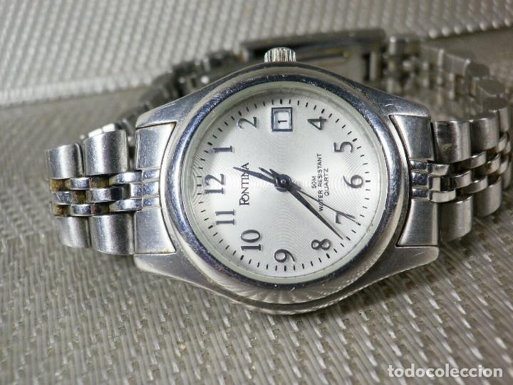 Relojes de pie: GRAN OCASION ORIGINAL PONTIMA ACERO INOX SIN USO SUMERGIBLE 30M LOTE WATCHES - Foto 8 - 173810684