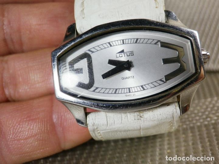 GRAN LOTUS DAMA ALTISIMA CALIDAD ACERO INOX WR30M INCREIBLE ESTADO LOTE WATCHES (Relojes - Pie Carga Manual)