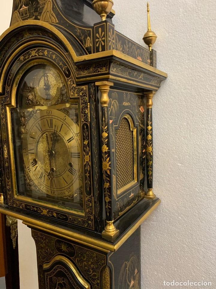 Relojes de pie: ANTIGUO RELOJ DE PIE CON CAJA EN MADERA DECORACIÓN RELIEVES MOTIVOS CHINOS ,FUNCIONANDO CON SONERÍA - Foto 13 - 173823762