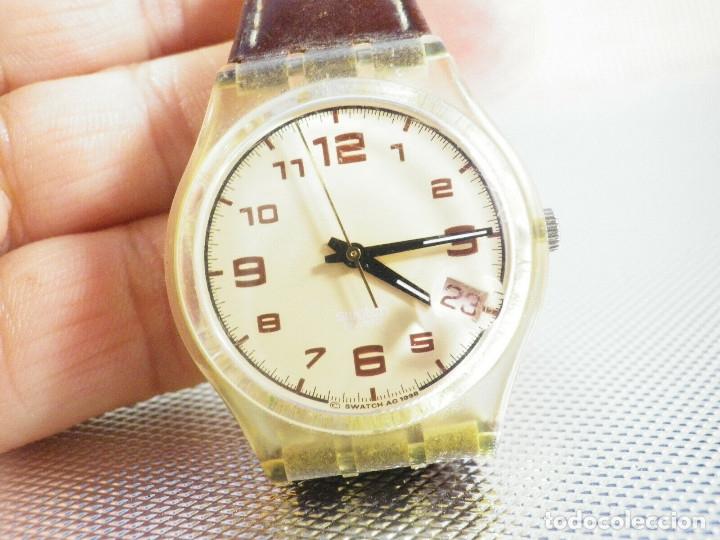 Relojes de pie: ELEGANTE Y BELLO SWATCH CABALLERO AÑO 1998 FUNCIONA PERFECTO LOTE WATCHES - Foto 5 - 173837263