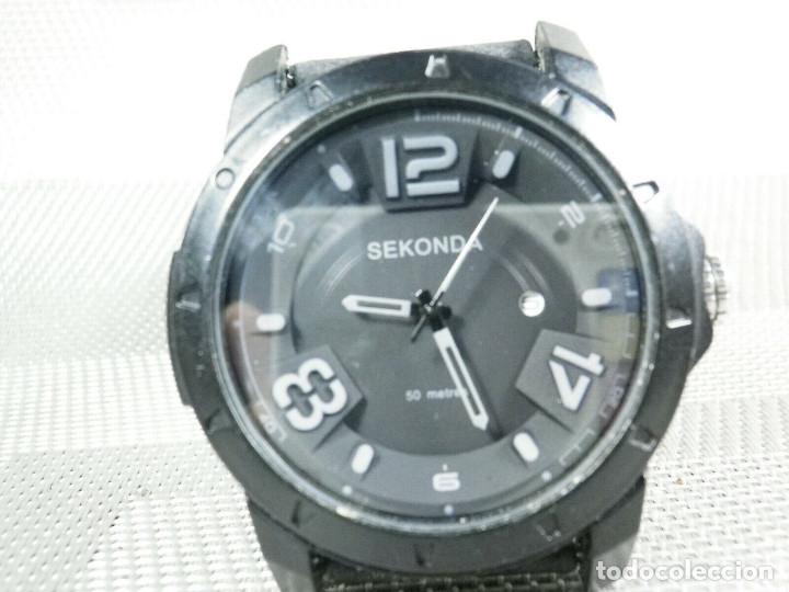 DEPORTIVO BONITO SEKONDA DE CABALLERO SUMERGIBLE 50 METROS FUNCIONA LOTE WATCHES (Relojes - Pie Carga Manual)