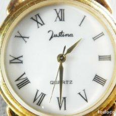 Relojes de pie: ELEGANTE JUSTINA FIN STOK ETIQUETA TIENDA 5.840 PESETAS AÑOS 90 LOTE WATCHES. Lote 173846189