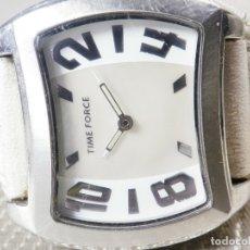 Relojes de pie: GRAN Y ELEGANTE TIME FORCE DE ALTA CALIDAD ACERO INOX. FUNCIONA LOTE WATCHES. Lote 173854245