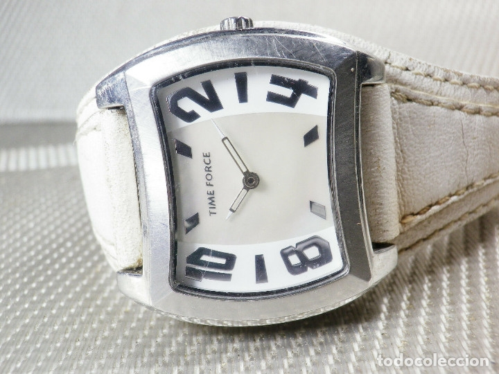 Relojes de pie: GRAN Y ELEGANTE TIME FORCE DE ALTA CALIDAD ACERO INOX. FUNCIONA LOTE WATCHES - Foto 3 - 173854245