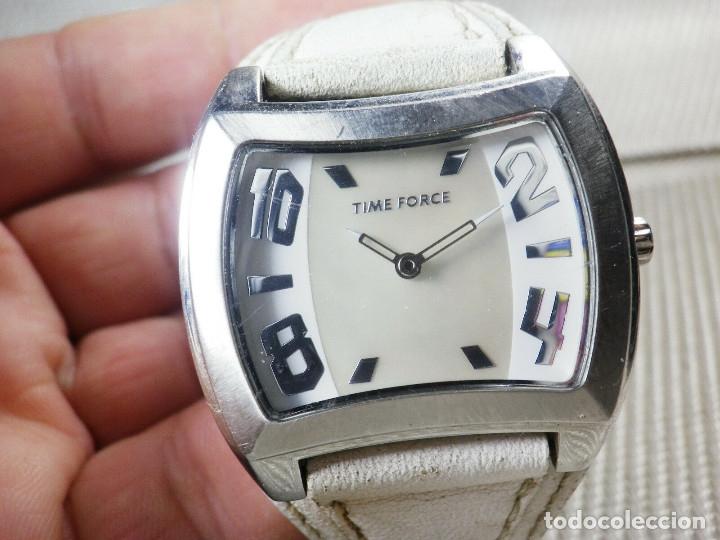 Relojes de pie: GRAN Y ELEGANTE TIME FORCE DE ALTA CALIDAD ACERO INOX. FUNCIONA LOTE WATCHES - Foto 4 - 173854245