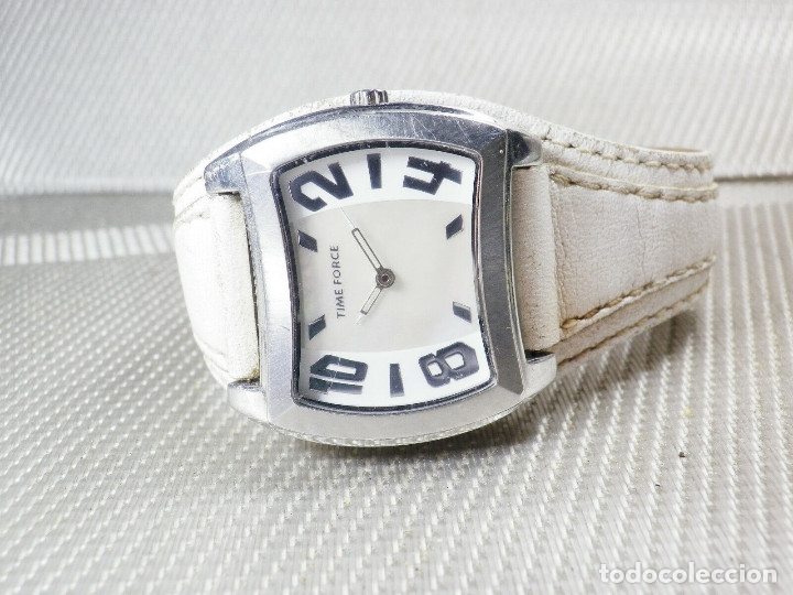 Relojes de pie: GRAN Y ELEGANTE TIME FORCE DE ALTA CALIDAD ACERO INOX. FUNCIONA LOTE WATCHES - Foto 5 - 173854245