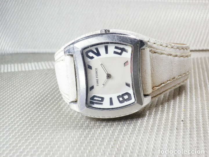 Relojes de pie: GRAN Y ELEGANTE TIME FORCE DE ALTA CALIDAD ACERO INOX. FUNCIONA LOTE WATCHES - Foto 7 - 173854245