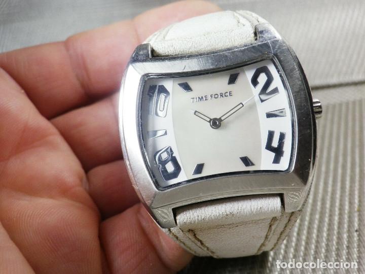 Relojes de pie: GRAN Y ELEGANTE TIME FORCE DE ALTA CALIDAD ACERO INOX. FUNCIONA LOTE WATCHES - Foto 8 - 173854245