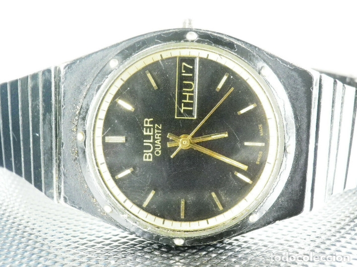 ANTIGUO Y GARN BULER SUIZO MAQUINA HARLEY ALTA CALIDAD NO FUNCIONA LOTE WATCHES (Relojes - Pie Carga Manual)