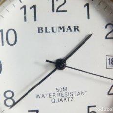 Relojes de pie: BONITO BLUMAR DE CABALLERO ALTA CALIDAD ACERO INOX SUMERGIBLE 50M LOTE WATCHES. Lote 173862720