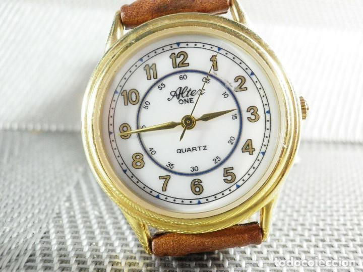Relojes de pie: ELEGANTE ALTEX SUIZO FIN STOK ETIQUETA TIENDA 6500 PESETAS AÑOS 90 LOTE WATCHES - Foto 6 - 173867869