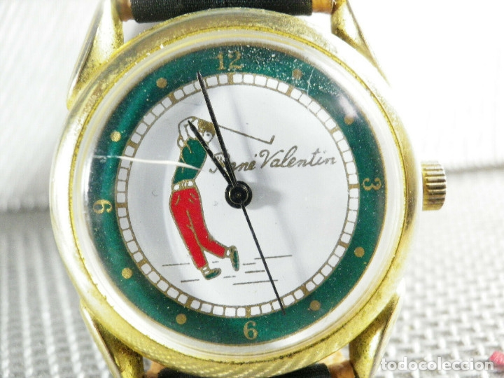 Relojes de pie: ANTIGUO RELOJ COLECCION AÑOS 70 MECANICO CARGA MANUAL GOLF FUNCIONA LOTE WATCHES - Foto 2 - 173869198
