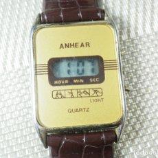 Relojes de pie: ANTIGUO ANHE AR ELECTRONICO CABALLERO FINALES AÑOS 70 FUNCIONA LOTE WATCHES. Lote 173872993