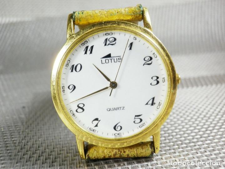 Relojes de pie: ELEGANTE LOTUS DE CABALLERO MUY BUEN ESTADO FUNCIONA PERFECT LOTE WATCHES MONTRE - Foto 3 - 173902474