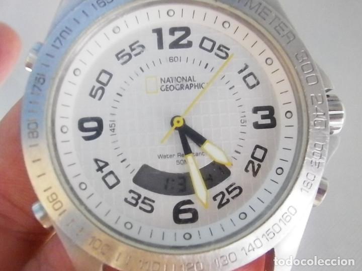 NATIONAL GEOGRAPHIC DUAL ACERO INOX WR50 TAMAÑO MUY GRANDE LOTE WATCHES (Relojes - Pie Carga Manual)