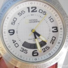 Relojes de pie: NATIONAL GEOGRAPHIC DUAL ACERO INOX WR50 TAMAÑO MUY GRANDE LOTE WATCHES. Lote 173962659