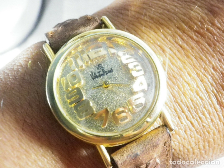 Relojes de pie: PRECIOSO RELOJ AÑOS 90 FIN STOK INUSUAL Y PRECIOSO DISEÑO FUNCIONA LOTE WATCHES - Foto 9 - 173996832