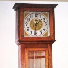 Relojes de pie: RELOJ DE PIE ANSONIA MOD- CRYSTAL REGULAT MADER ROBLE PENDULO CON PESAS Y LLAVE. Lote 176515147