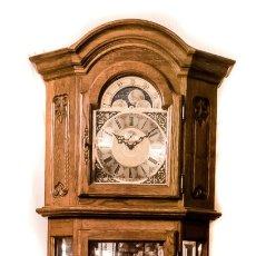 Relojes de pie: ESPECTACULAR RELOJ DE ANTESALA, DE LOS CUARTOS, MADERA DE CALIDAD,CUERDA MANUAL , SONERIA WINSMINSTE. Lote 178382945