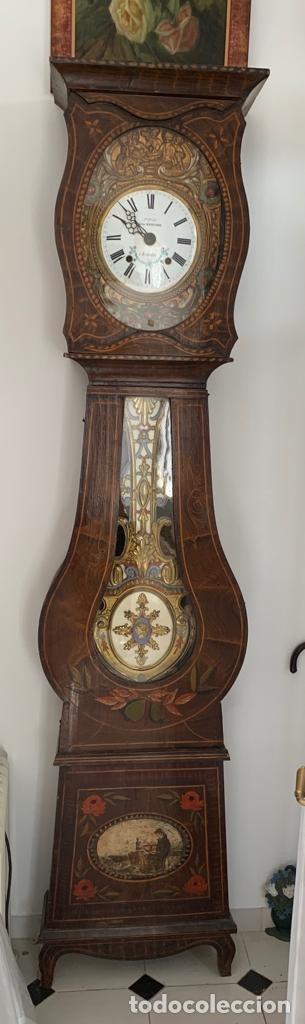 Relojes de pie: reloj de pie tipo Morez del artista Julien Mayenobe - Foto 2 - 178864937