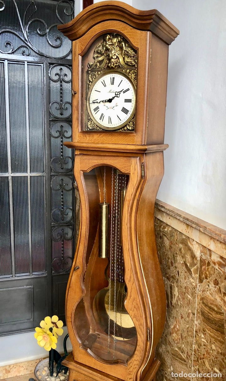 Relojes de pie: Reloj de pie Morez Morbier - Foto 2 - 179118951