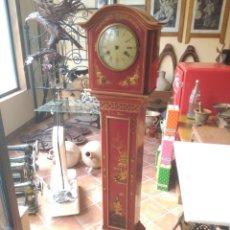 Relojes de pie: CAJA DE RELOJ DE PIE CON MOTIVOS ORIENTALES (VER FOTOS). Lote 180272112