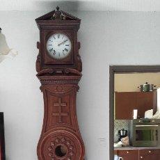 Relojes de pie: RELOJ MOREZ CON LA CRUZ DE LORENA, MUEBLE ESPECTACULAR. Lote 181113181