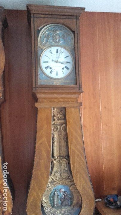 Relojes de pie: Reloj Morez de péndulo de monje con termómetro - Foto 3 - 181210436