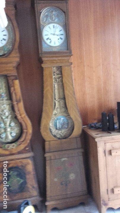 Relojes de pie: Reloj Morez de péndulo de monje con termómetro - Foto 5 - 181210436